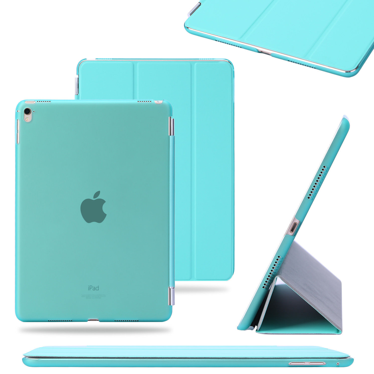 Slim Leather Smart Cover Back Skin Case for Apple iPad 2 3 4 Mini Air Pro 9.7""
