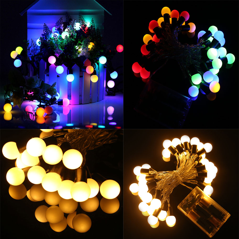 2/3/10M UK BATTERY WARM WHITE FAIRY STRING LIGHTS LED OPERATED XMAS PARTY DECOR