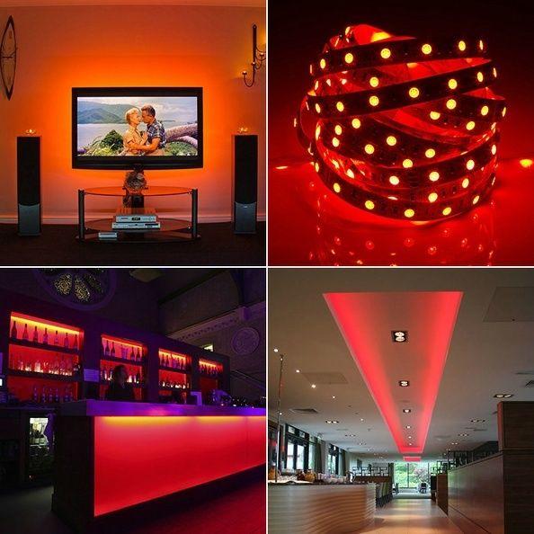 5m 20m 3528 5050 rgb led lichterkette stripe band leiste. Black Bedroom Furniture Sets. Home Design Ideas