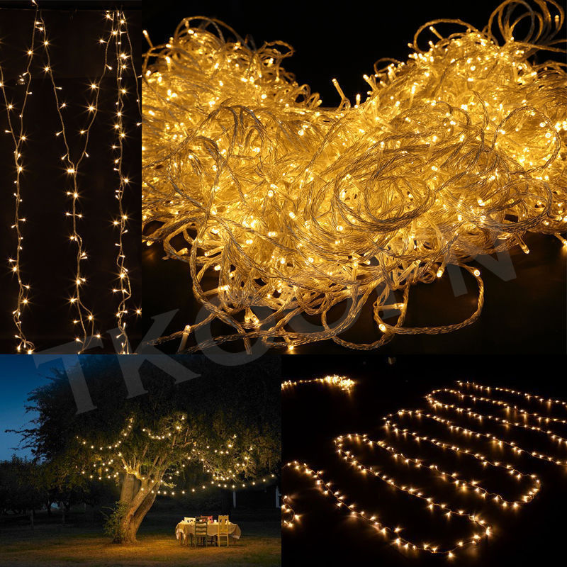 Halloween String Lights Outdoor : 300/500/1000 LED Fairy String Lights Outdoor Xmas Garden Halloween Party Decor eBay