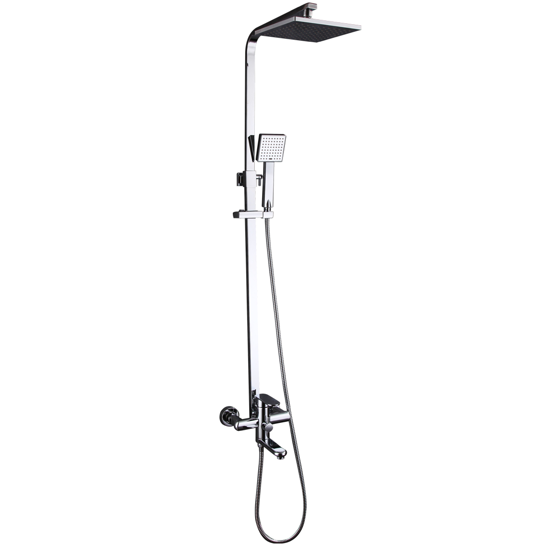 8 Tub Fixtures Bathroom Rain Shower Faucet System Set Shower Head Han