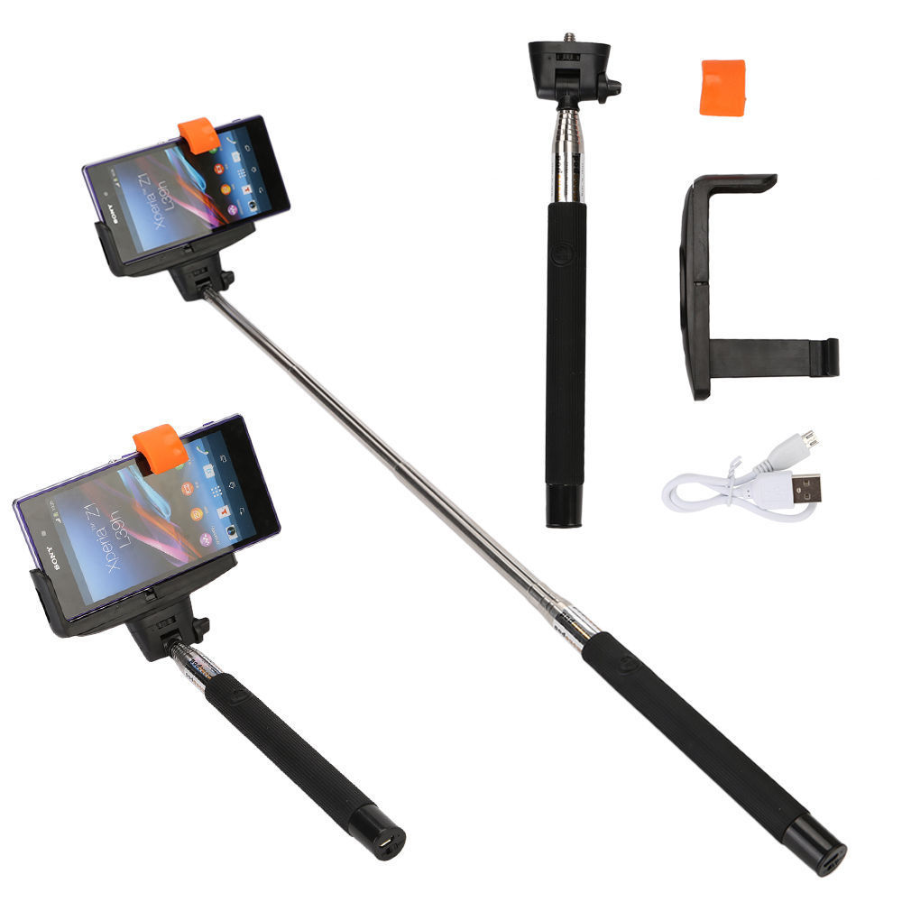 handheld bluetooth selfie stick extendable monopod for iphone android htc pho. Black Bedroom Furniture Sets. Home Design Ideas