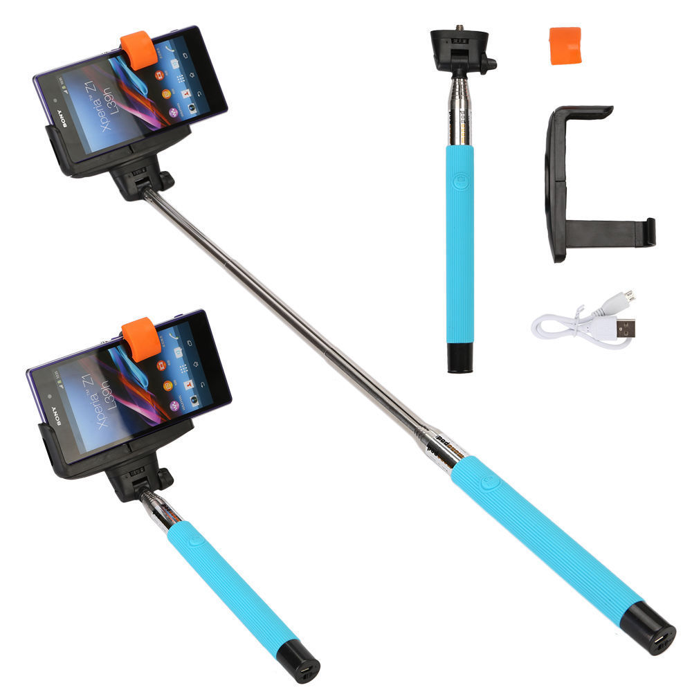 handheld bluetooth selfie stick extendable monopod for iphone android htc phone ebay. Black Bedroom Furniture Sets. Home Design Ideas