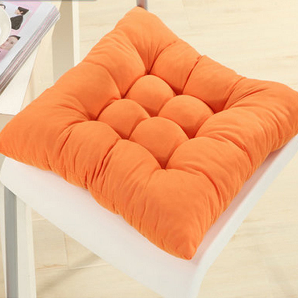 soft square cotton seat cushions home garden outdoor chair. Black Bedroom Furniture Sets. Home Design Ideas