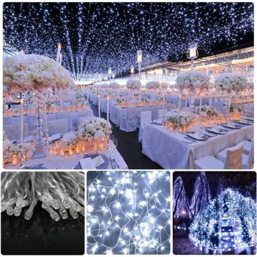 Mains Powered 20m 30m 100m 200m String Fairy Lights Xmas Garden Wedding Party US eBay