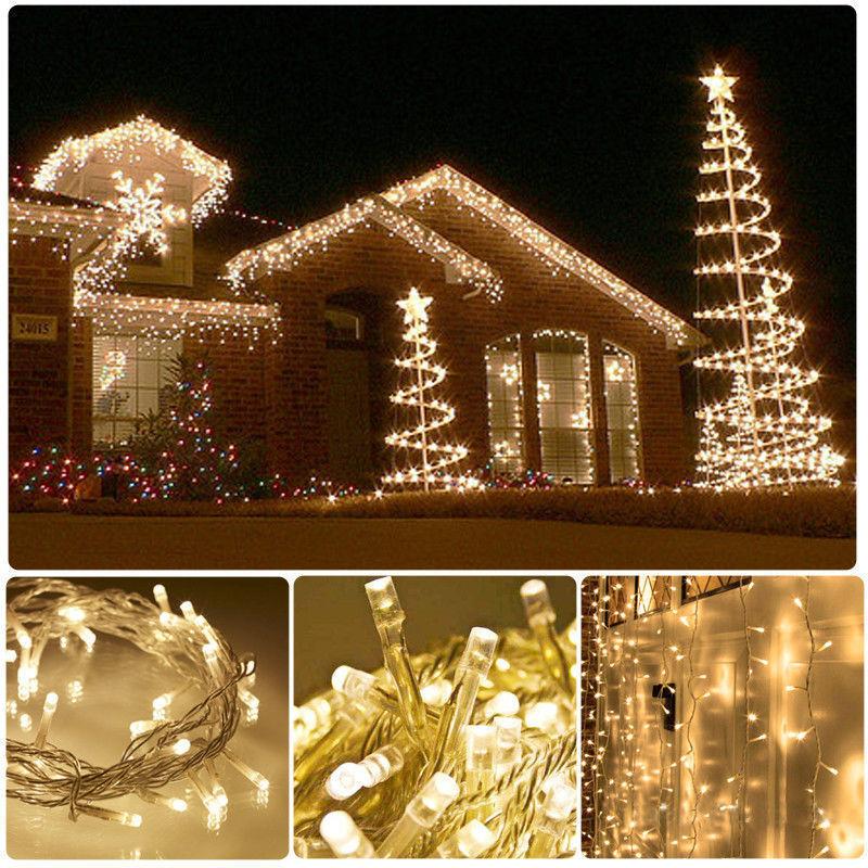 100-1000 LED Christmas XMAS Tree Fairy String Lights Outdoor Indoor with US PLUG eBay