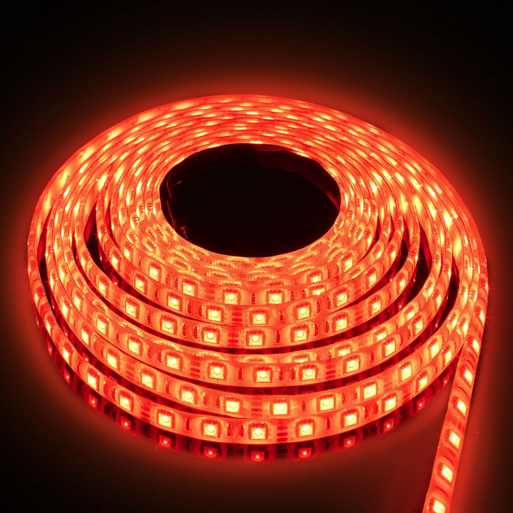 Outdoor Waterproof Solar Led Strip Light Smd 5050 5m: 5M-100M 5050 RGB LED Light Strip SMD Tape Car Outdoor Wall
