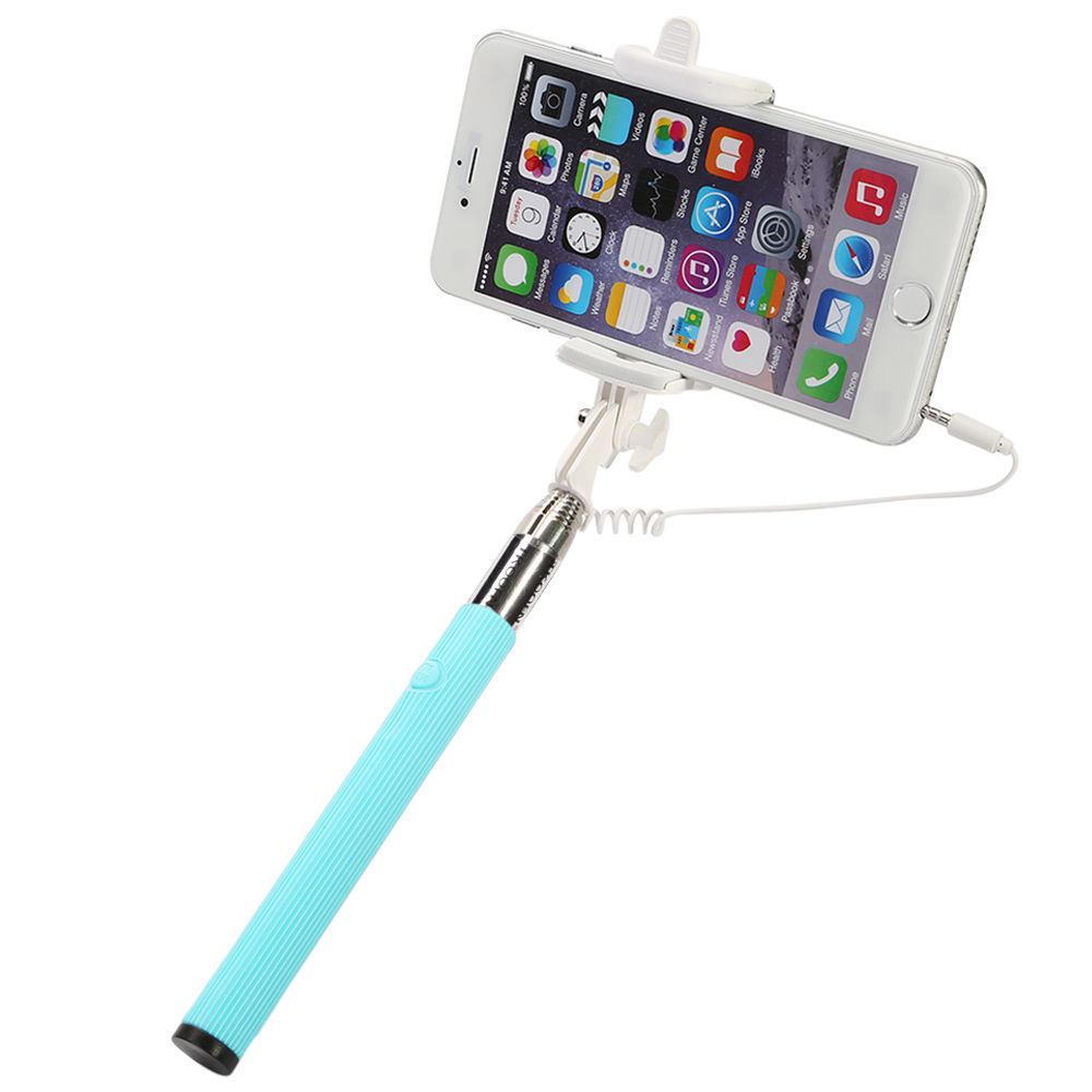 extendable wired remote control selfie stick monopod holder for iphone samsung ebay. Black Bedroom Furniture Sets. Home Design Ideas