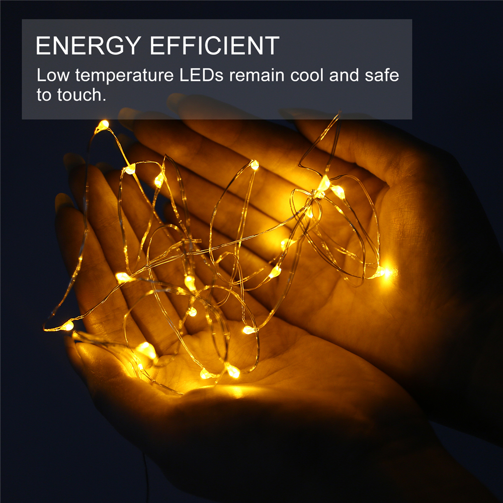 2/3/10/12/22/50M LED Solar/Battery Powered Light Outdoor Fairy String Lights eBay
