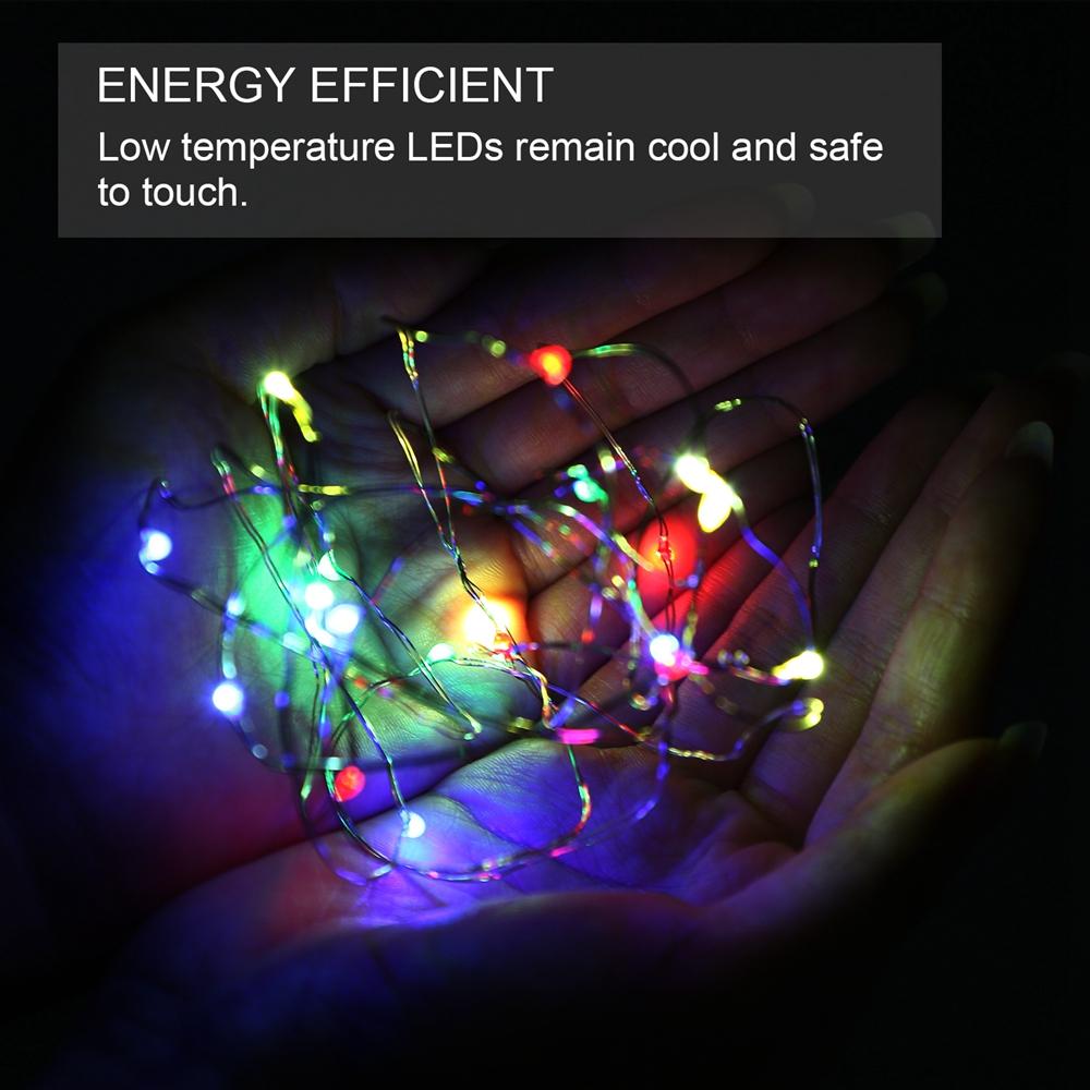 New 100/200/500 LED Solar/Battery Lights Outdoor Fairy String Christmas Garden eBay