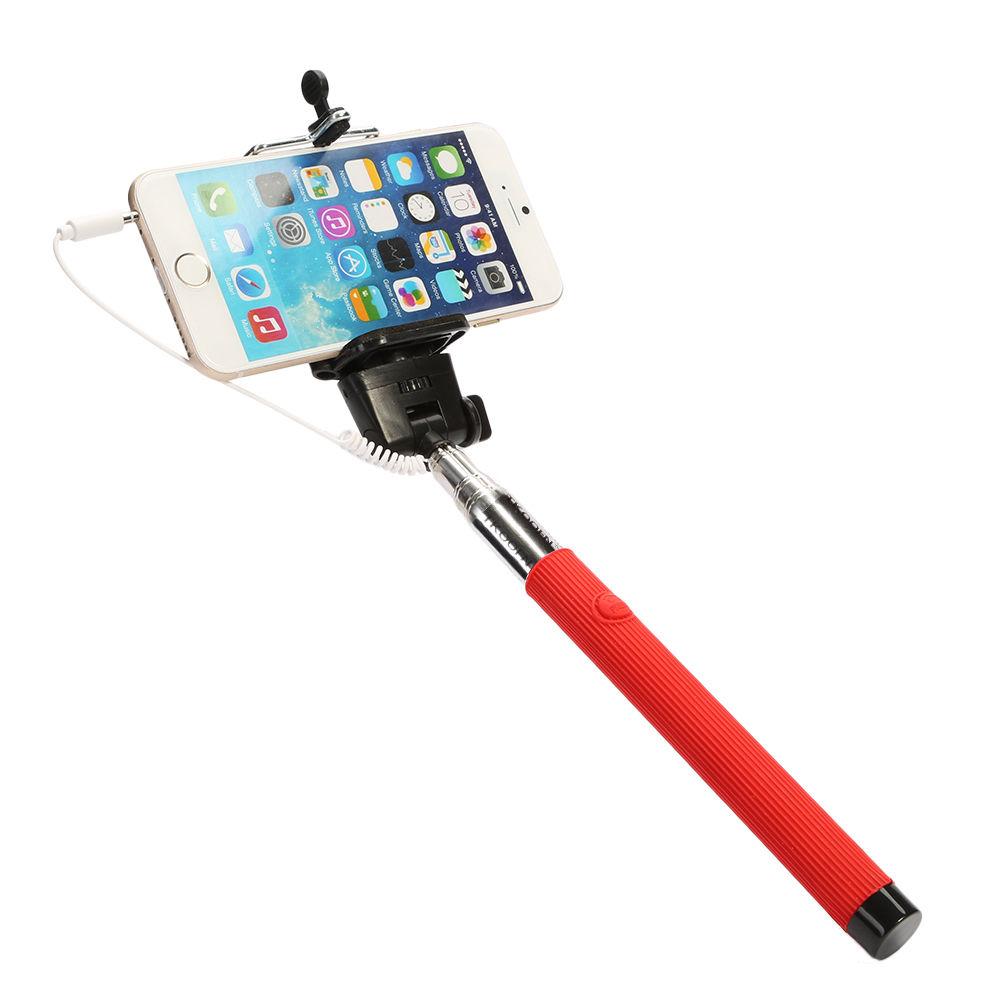 extendable handheld selfie stick monopod remote shutter holder for phone camera ebay. Black Bedroom Furniture Sets. Home Design Ideas