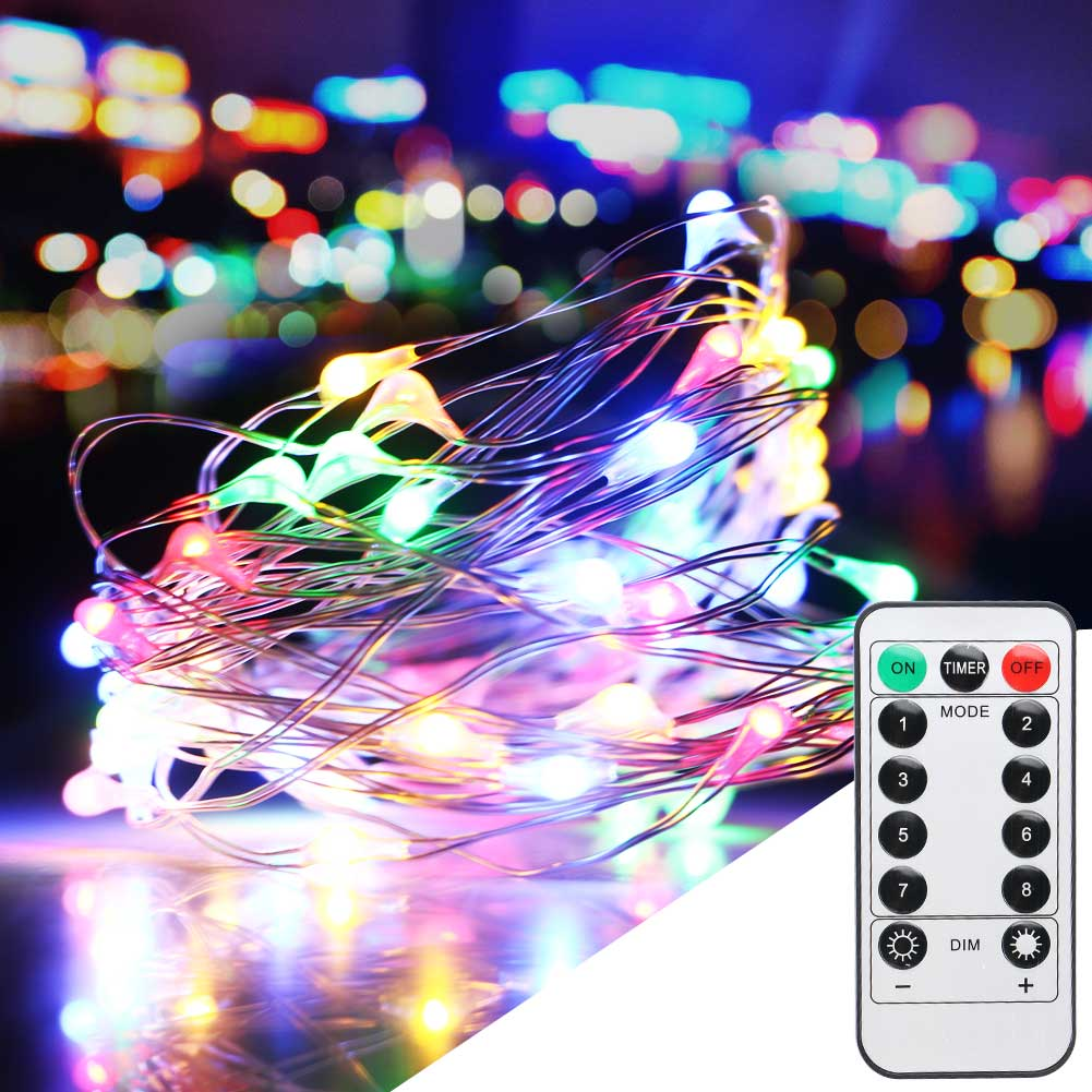 10m 100led xmas battery operated fairy string lights party. Black Bedroom Furniture Sets. Home Design Ideas