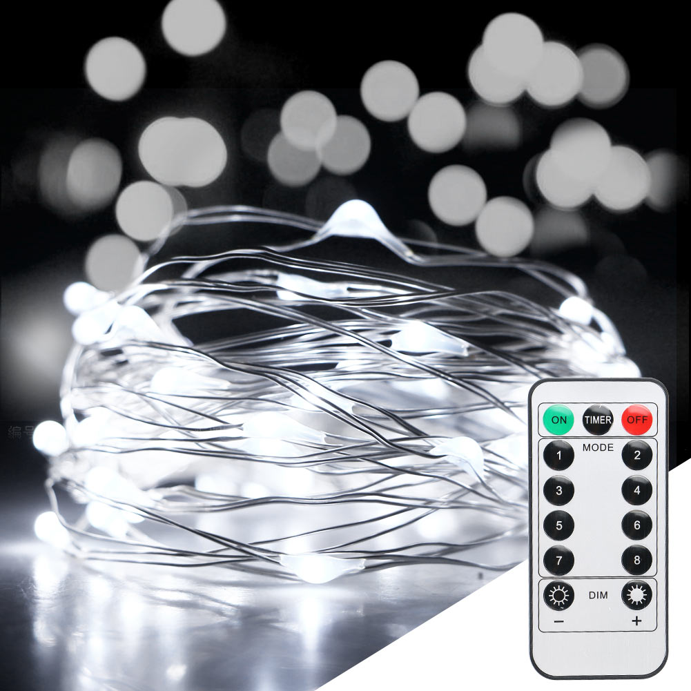 10M 100LED Xmas Battery Operated Fairy String Lights Party Wedding With Remote eBay