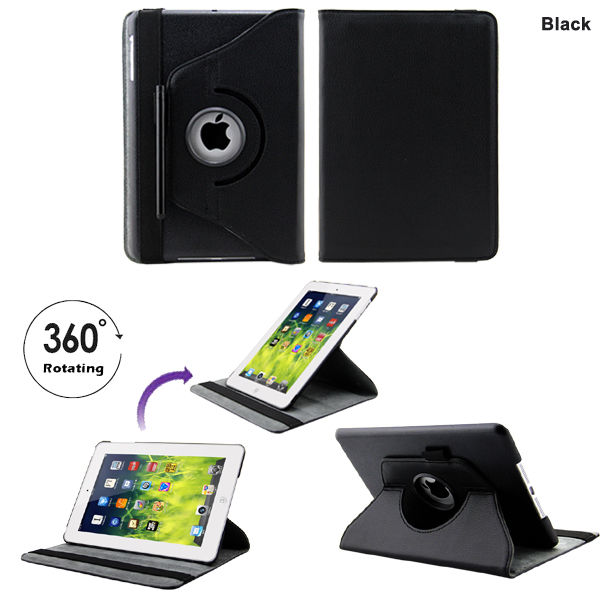 Coque housse etui ipad mini cuir rotative 360 stylet for Housse protection ipad