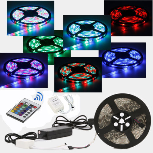 5m 10m 15m 20m 3528 5050 led white rgb home kitchen party christmas strip light ebay. Black Bedroom Furniture Sets. Home Design Ideas