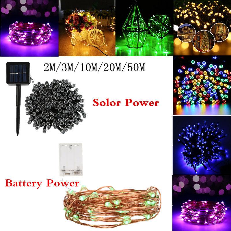 2030100200500 led solarbattery powered light outdoor fairy 20 30 100 200 500 led solar battery aloadofball Images
