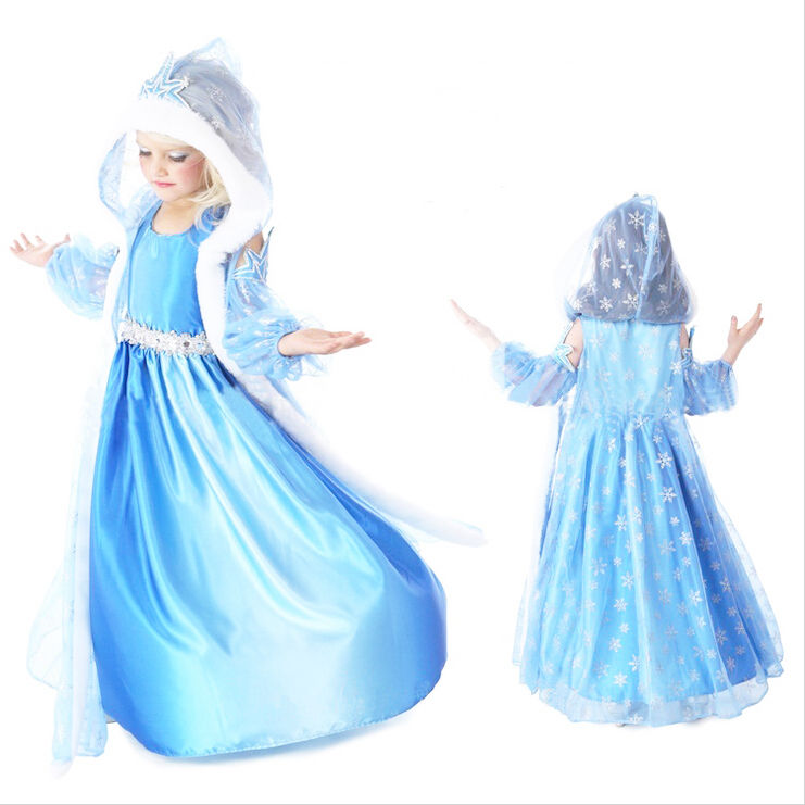 karneval m dchen kost m elsa anna dress fasching eisk nigin prinzessin cosplay ebay. Black Bedroom Furniture Sets. Home Design Ideas