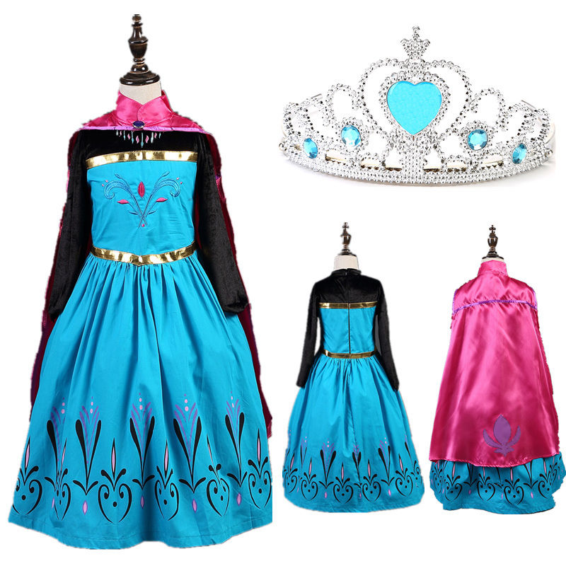 frozen m dchen kost m elsa anna t ll kleid kost m cosplay eisk nigin party dress ebay. Black Bedroom Furniture Sets. Home Design Ideas