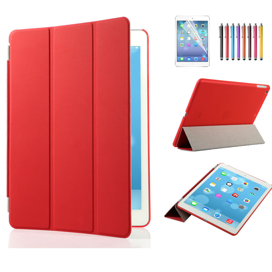 lot leather slim smart cover protector hard case for ipad 2 3 4 5 air mini pro ebay. Black Bedroom Furniture Sets. Home Design Ideas