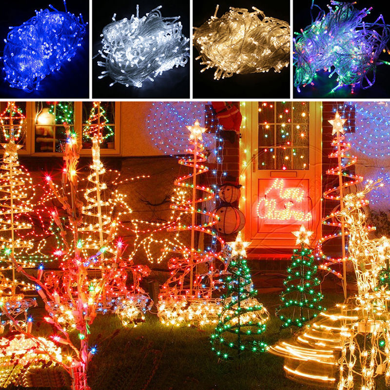 100 300 1000 led fairy stringa luci natale matrimonio albero illuminazione luce ebay. Black Bedroom Furniture Sets. Home Design Ideas