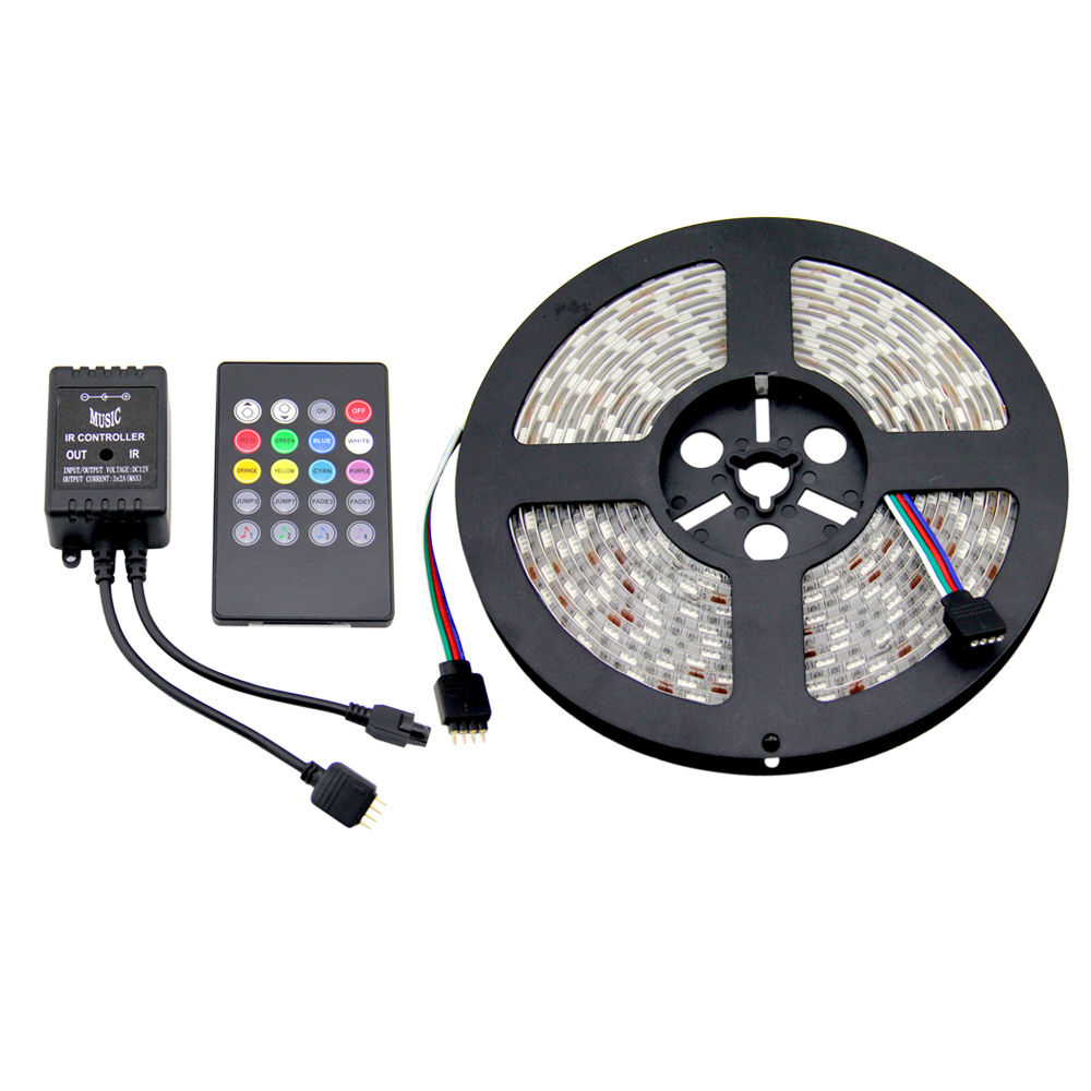 Indoor Outdoor Led Light Strip: 5m Music Led Strip Rope Light Waterproof Color Changing