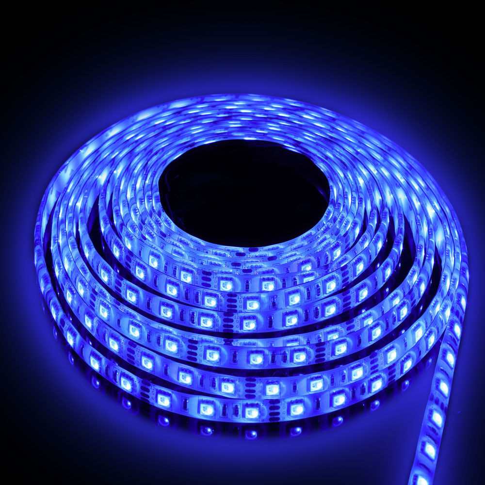 5m 220 240v Rgb Color 5050 Smd Led Strip Light Kit Ip65 Outdoor Led Tape Psu Ebay