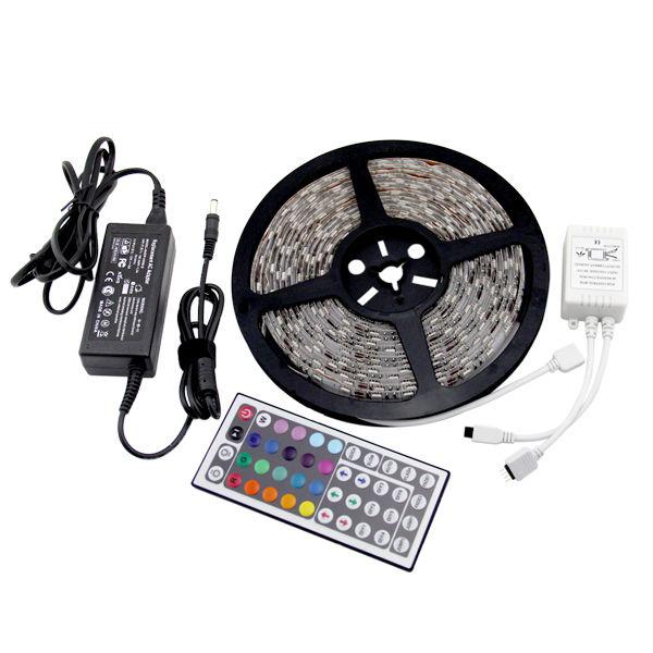 Outdoor Led Light Tape: 5M 220-240V RGB Color 5050 SMD LED Strip Light Kit IP65