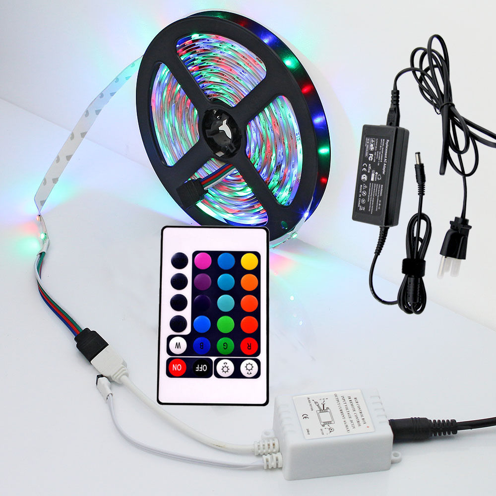 12v rgb smd led strip light 5m colour change xmas ir remote control 12v rgb smd led strip light 5m colour aloadofball Gallery