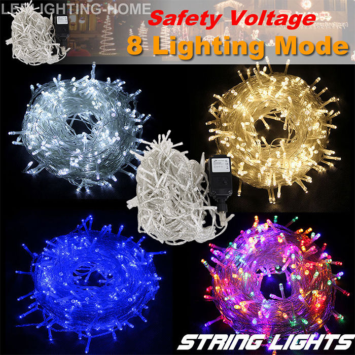 Outdoor String Lights Mains: UK Mains Powered/Battery Operated Fairy LED String Outdoor