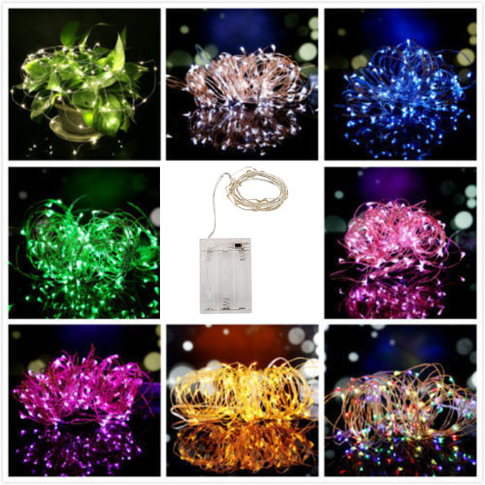 UK Mains Powered/Battery Operated Fairy LED String Outdoor Christmas Path Lights eBay