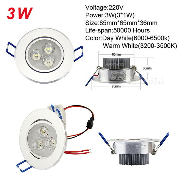 6-60x-3W-7W-12W-LED-Ceiling-Down-Light-Spotlight-complete-with-driver