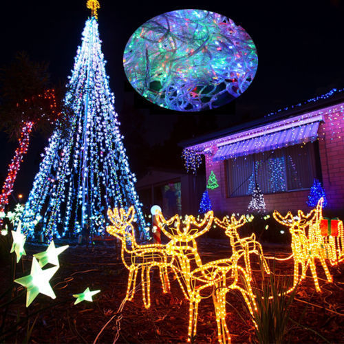 Festival Party String Lights : 200m/1000 LED Fairy String Light Festival Wedding Christmas Xmas Garden Party