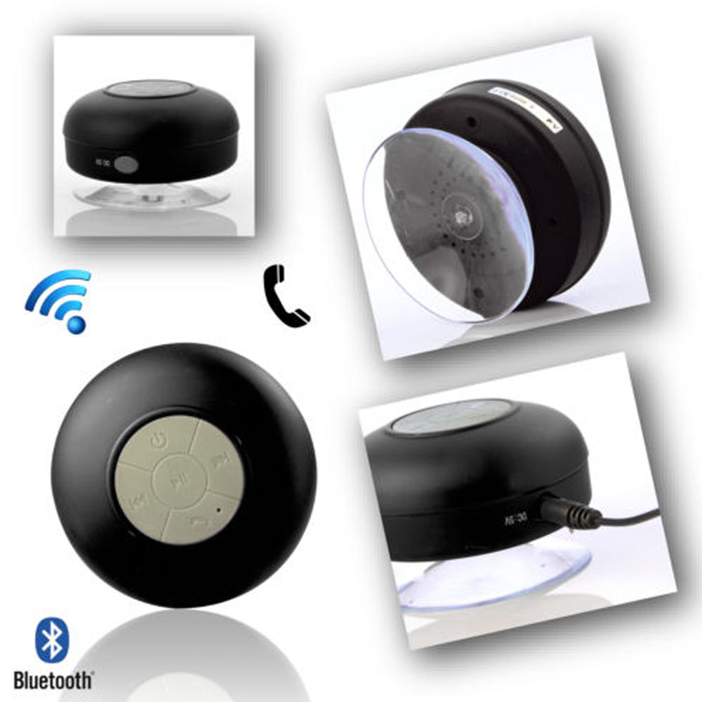 Mini Waterproof Wireless Bluetooth Handsfree Mic Suction