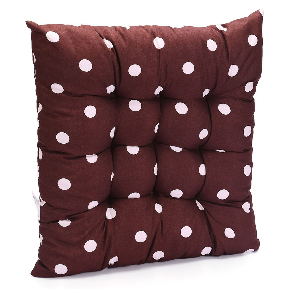 tie on dotty chunky seat pad chair cushion pads dining room garden kitchen new ebay. Black Bedroom Furniture Sets. Home Design Ideas