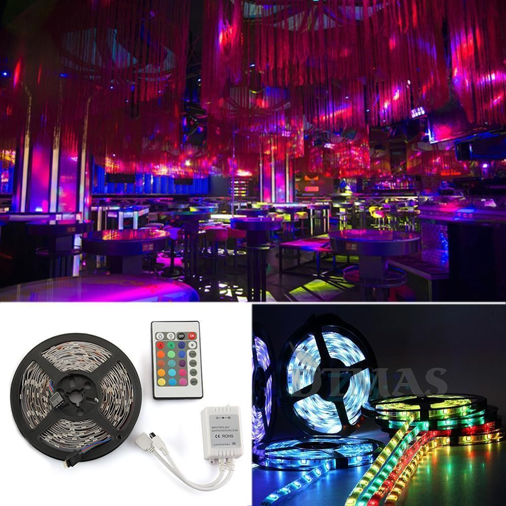 5 20m rgb 5050 3528 smd waterproof led light strip flexible ir remote 12v power ebay. Black Bedroom Furniture Sets. Home Design Ideas