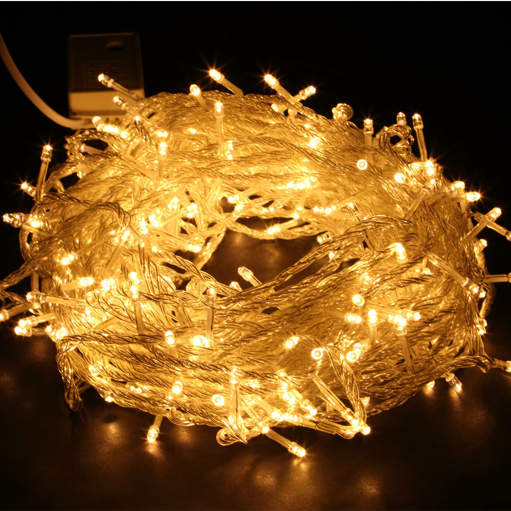 Festival Party String Lights : 200-1000 LED Fairy String Light Wedding Festival Party Christmas Tree Warm/White