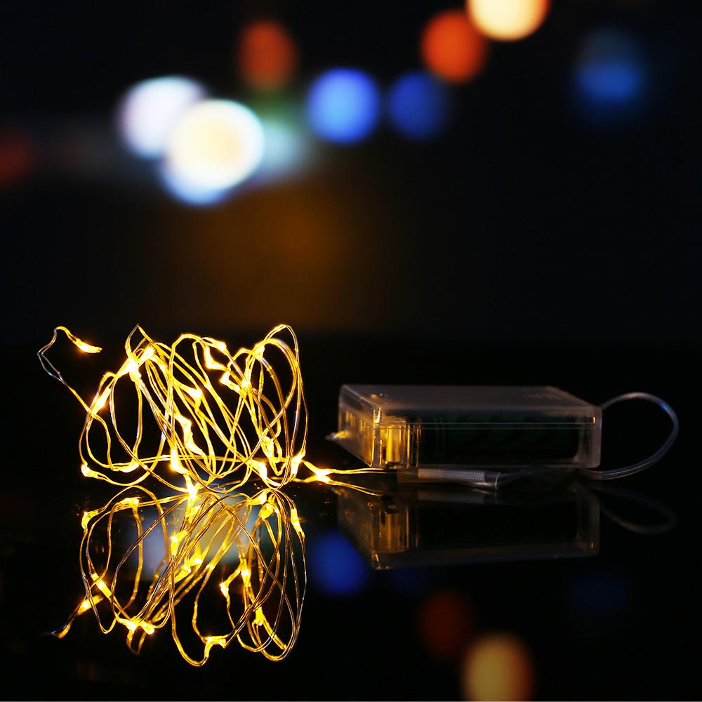 2 10m led batterie guirlande lumieuse bande lampe no l. Black Bedroom Furniture Sets. Home Design Ideas