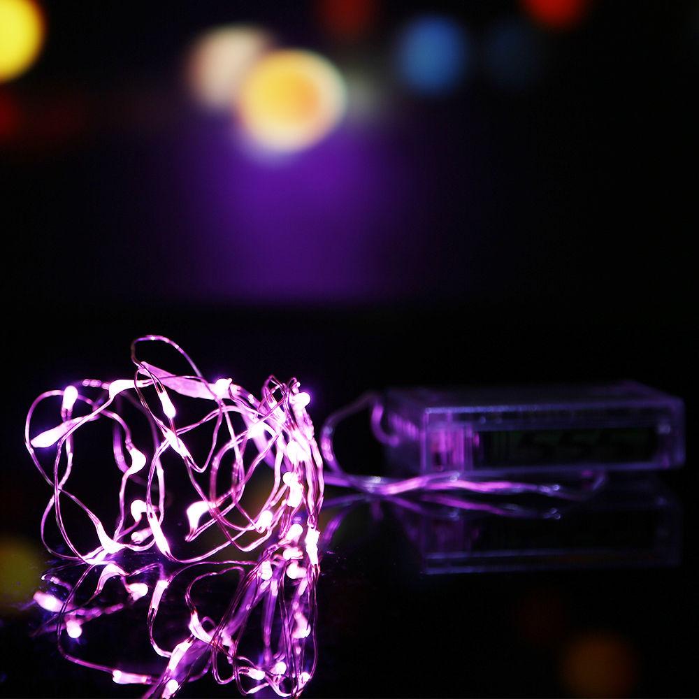 String Fairy Light 10M 100LED Battery Operated Xmas Lights Party Wedding Decor eBay