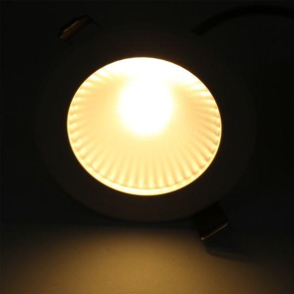 7w led einbaustrahler decken einbauleuchte cob spot lampe set warmwei kaltwei ebay. Black Bedroom Furniture Sets. Home Design Ideas