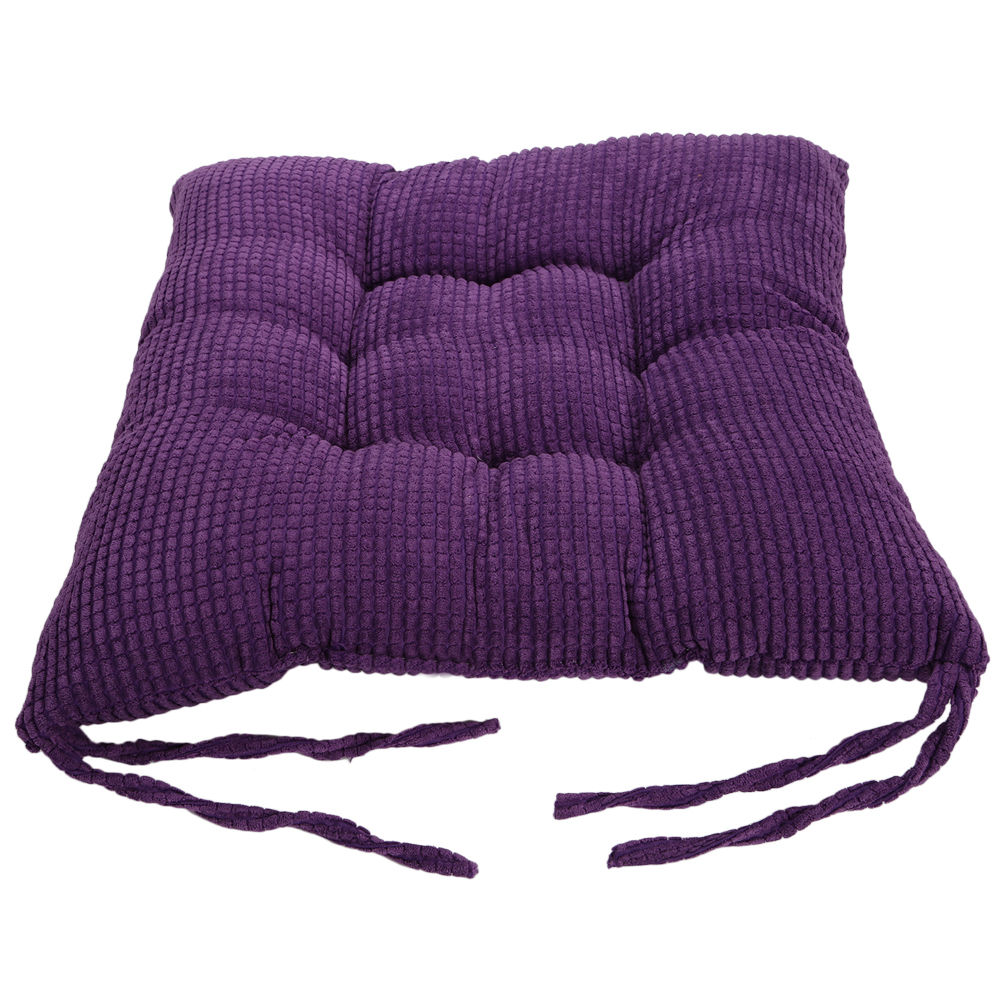 100 cotton seat cushions tie on dotty chunk chair pads for dining room garden. Black Bedroom Furniture Sets. Home Design Ideas