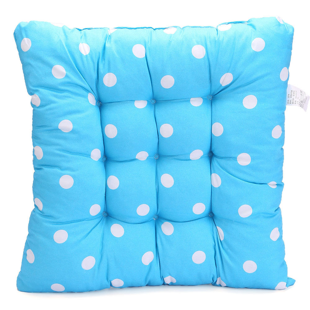 TIE ON DOTTY CHUNKY SEAT PAD CHAIR CUSHION PADS DINING