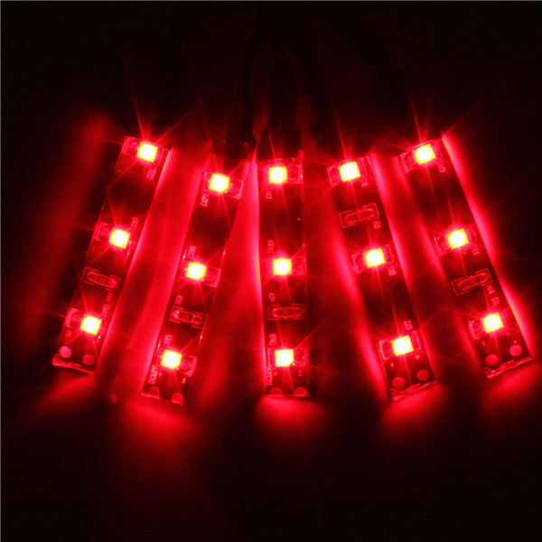 Led String Lights For Cars : Car Truck Vehicle Strip Light Waterproof Flexible 15 LED Motor DIY Lamp 12v 30cm eBay