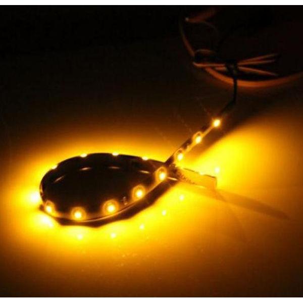 String Lights For Cars : Car Truck Vehicle Strip Light Waterproof Flexible 15 LED Motor DIY Lamp 12v 30cm eBay