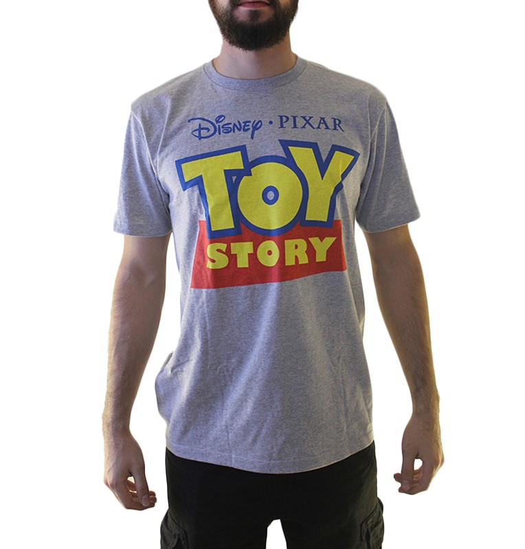 Toys For Tots Logo For T Shirts : Disney toy story logo men s grey t shirt new sizes xl