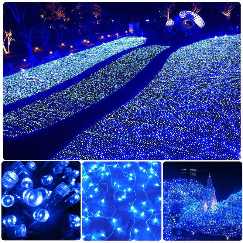 Mains Powered Outdoor String Lights : Mains Powered LED Fairy String Lights for XMAS Decorative Garden Patio 220-240V eBay
