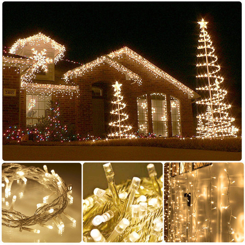 Mains Powered LED Fairy String Lights for XMAS Decorative Garden Patio 220-240V eBay