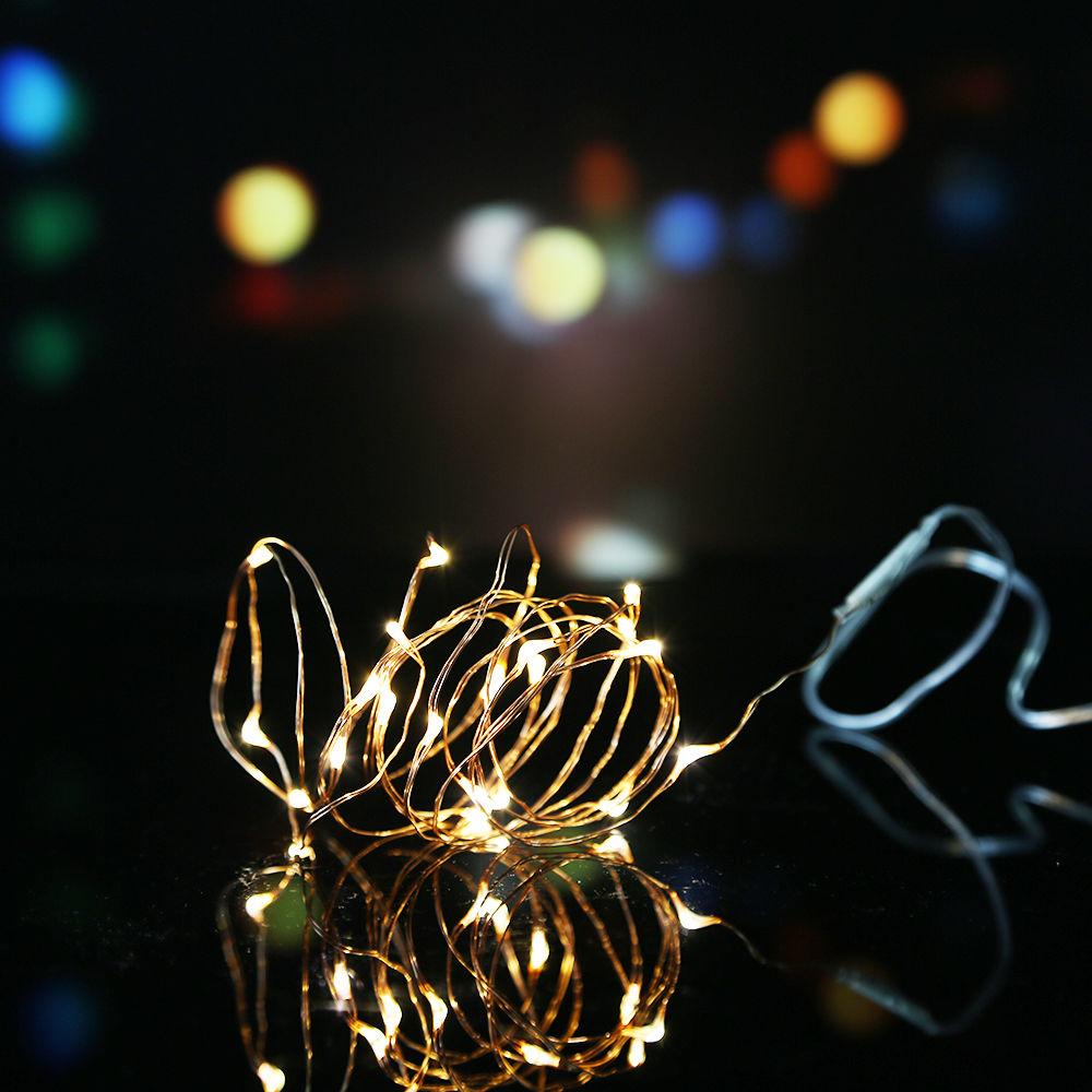 2M/3M/10M Battery Powered LED Starry Fairy String Lights Xmas Valentine Party eBay