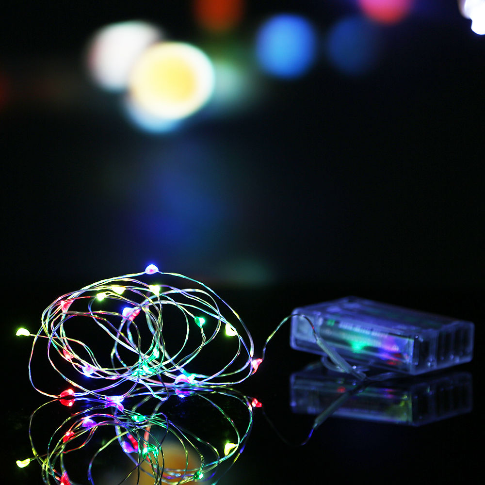 Led Party String Lights : 2M/3M/10M Battery Powered LED Starry Fairy String Lights Xmas Valentine Party eBay