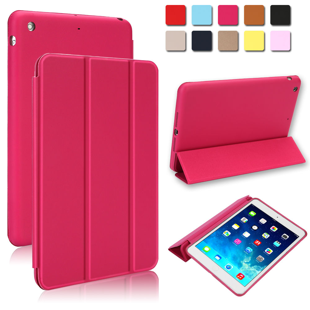 Smart-Magnetic-Stand-Hard-Back-Cover-Case-for-Apple-new-iPad-Sleep-Wake-Flip