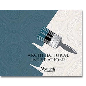 Architectural Inspirations 48929 Brooklyn Wht Texture Paintable Floral Wallpaper